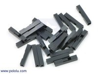 """0.1"""" (2.54mm) Crimp Connector Housing: 1x1-Pin 25-Pack"""