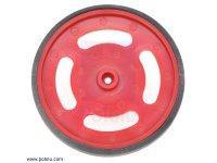 "2-5/8"" plastic Red wheel Futaba servo hub"