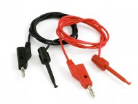 Banana to IC Hook Cables 0.9m