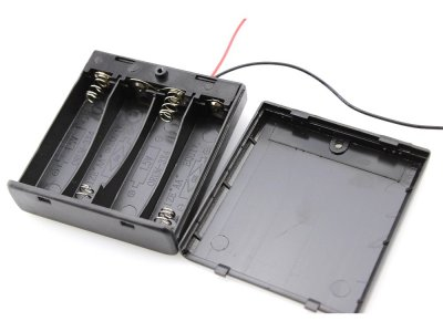 Portapilas 4 Pilas Tipo AA con Interruptor