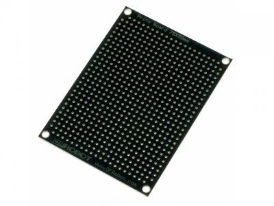 Placa perforada topos paso 2,54mm. 58x79 mm 1 cara negra