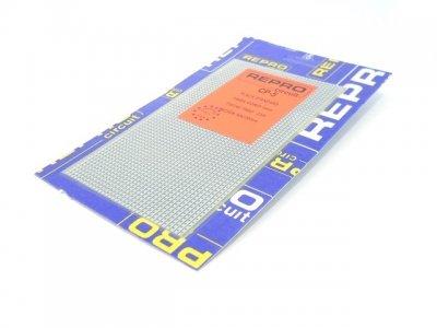 Placa perforada pistas paso 2,54mm. 90X155 mm F. de vidrio