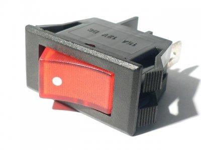 Interruptor Basculante con Luz 220V