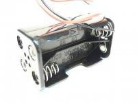 Porta pilas 4 pilas tipo AA con hilos