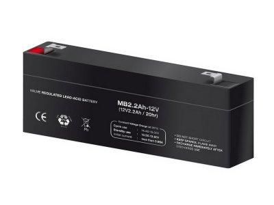 Bateria de plomo sin mantenimiento 12V 2,2AH 178X35X67