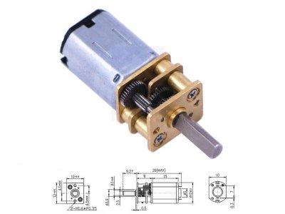 Mini Motor Reductor Metalico 250:1 Alta Potencia