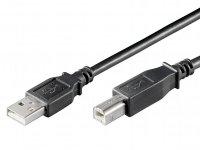 Cable USB 2.0 terminales A y B 1.8m
